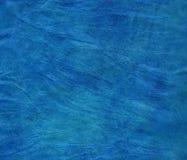 Blue genuine leather background Stock Image