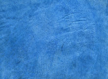 Blue genuine leather texture. Genuine leather texture background. Natural leather Stock Image