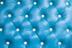 Blue genuine leather upholstery Stock Photography