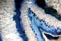 Blue geode. Close up of the inside of a blue geode Stock Photos