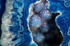 Blue Geode Macro Royalty Free Stock Photos