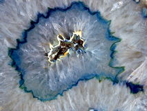 Blue geode mineral. Polished blue geode acicular crystals Stock Images