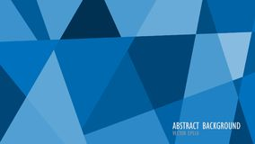 Blue geometric abstract background. Vector illustration Stock Images