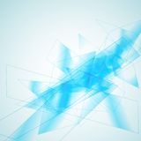 Blue geometric abstract background Royalty Free Stock Image