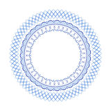 Blue geometric abstract russian porcelain Royalty Free Stock Image