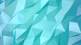 Blue geometric animated background. stock video