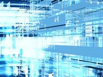 Blue geometric background Stock Image