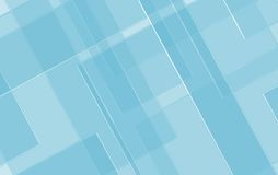 Blue geometric background with angled lines blocks squares in glass texture pattern Stock Images