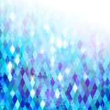 Blue geometric background. Grungy mosaic background with geometric texture stock illustration