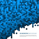 Blue geometric background with polygons Stock Photography
