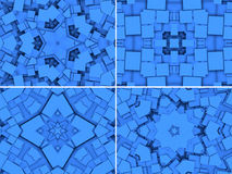 Blue geometric background with stars Royalty Free Stock Photos