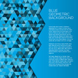 Blue geometric background with triangles Stock Photography