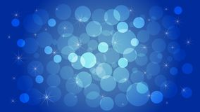 Abstract geometric blue background with circles and stars. Vector illustration for decorating websites, posters, banners, flyers,. Geometric blue background Stock Image