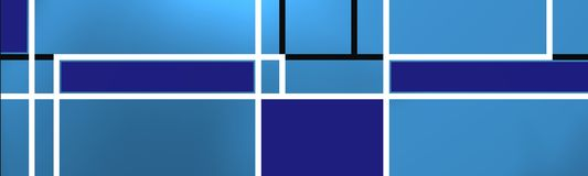 Blue geometric compositio with white lines. Stock Photo
