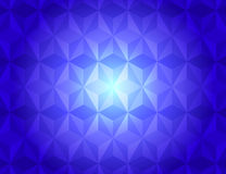 Blue geometric gradient illuminated pattern abstract background Royalty Free Stock Images