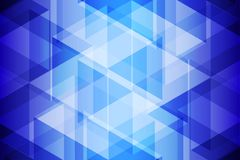 Blue Geometric Light and Shadow Abstract Background. Vector Illustration Stock Images