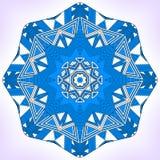 Blue geometric mandala. Stock Images