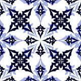 Blue geometric pattern Stock Photography