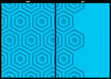 Blue geometric pattern abstract background template Royalty Free Stock Photo