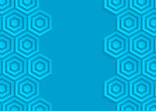 Blue geometric pattern abstract background template Stock Image