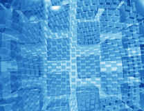 Blue geometric pattern, Stock Photo