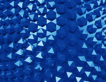 Blue geometric pattern, Royalty Free Stock Images
