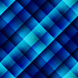 Blue geometric pattern in matrix style. Royalty Free Stock Photos