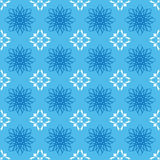 Blue geometric pattern - vector Royalty Free Stock Image
