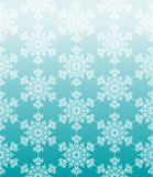 Blue geometric seamless background with snowflakes Royalty Free Stock Photos