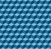 Blue geometric seamless background Stock Photo