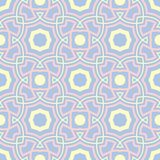 Blue geometric seamless pattern. Background with beige and pink elements. For wallpapers, textile and fabrics Stock Photography