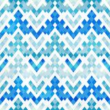 Blue geometric seamless pattern Royalty Free Stock Images