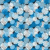 Blue geometric seamless pattern. Stock Photo