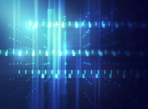 Blue geometric  shape abstract technology background Royalty Free Stock Image