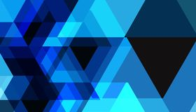 Blue geometric shapes abstract future technology pattern vector background  design. For business Royalty Free Stock Photos