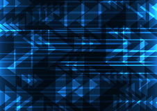 Blue geometric technology abstract background Royalty Free Stock Photo