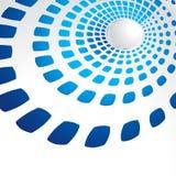Blue geometric template Stock Photos