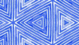 Blue Geometric Watercolor. Cute Seamless Pattern. royalty free illustration