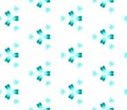 Blue Geometric Watercolor. Seamless Pattern.Surface Ornament. stock illustration