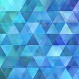 Geometrical abstract retro triangular background template design. Blue geometrical abstract retro triangular background template design vector illustration
