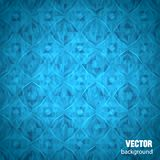 Blue geometrical background with place of text Stock Photo