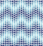 Blue geometrical circle pattern Royalty Free Stock Photography