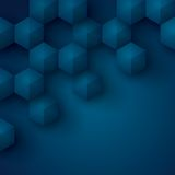 Blue geometry background. Stock Image