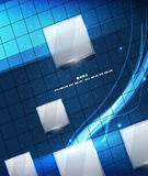 Blue geometry lines background Stock Photography