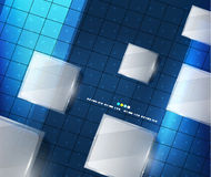 Blue geometry lines background Royalty Free Stock Photos