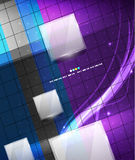 Blue geometry lines background Royalty Free Stock Photo