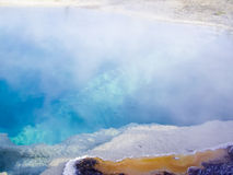 Blue geothermal pool Yellowstone Royalty Free Stock Photography
