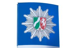 German nrw polizei sign stock images