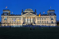 Blue german parliament Royalty Free Stock Photo