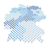 Blue Germany Map and Flag 2 Royalty Free Stock Image